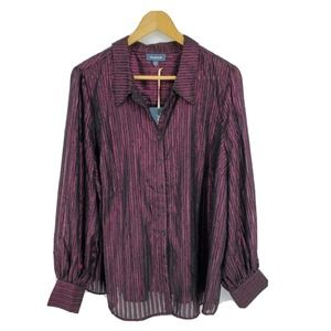 New Modcloth Undeniably Inspired Metallic Blouse